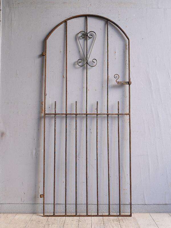 イギリスアンティーク アイアンフェンス ゲート柵 ガーデニング 9830