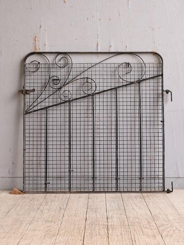 イギリス アンティーク アイアンフェンス ゲート柵 ガーデニング 9832