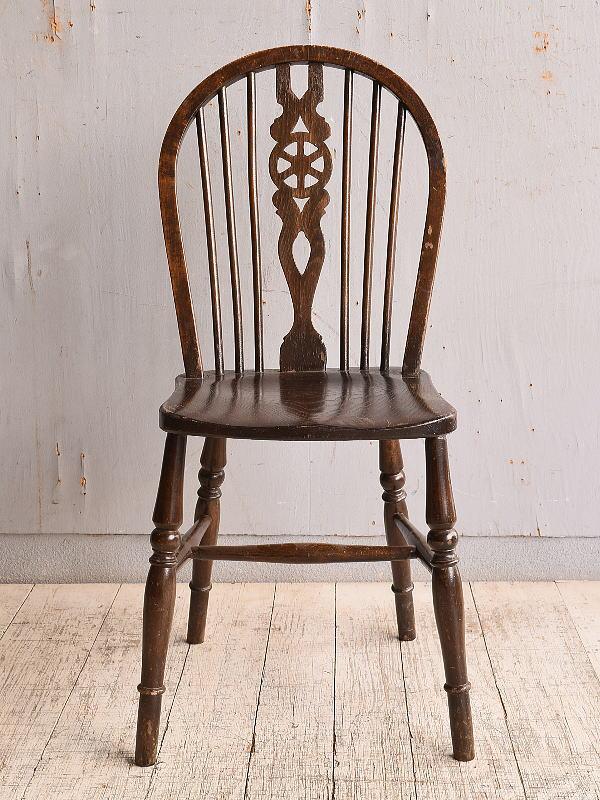 イギリス アンティーク家具 キッチンチェア 椅子 9840