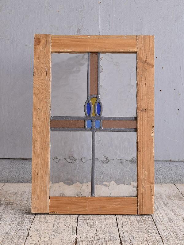 イギリス アンティーク ステンドグラス 幾何学 9865