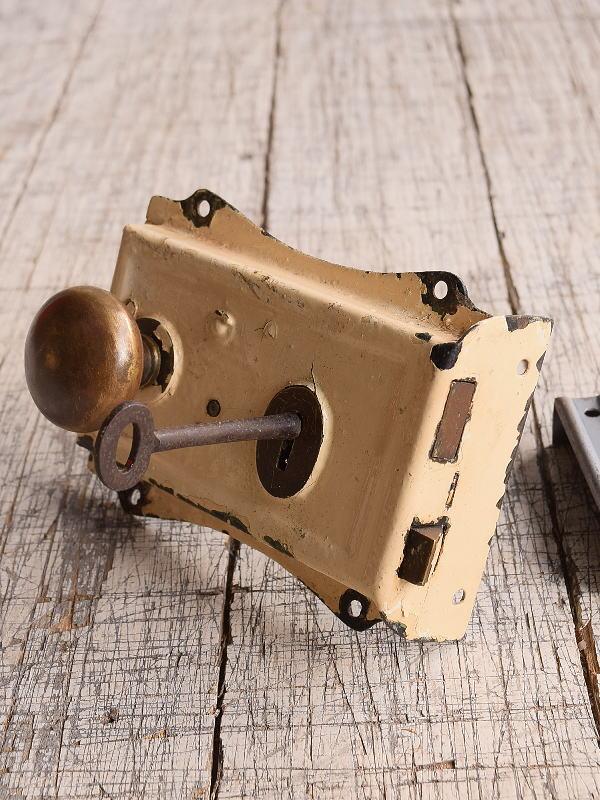 イギリス アンティーク ラッチ&ドアノブ 建具金物 9877