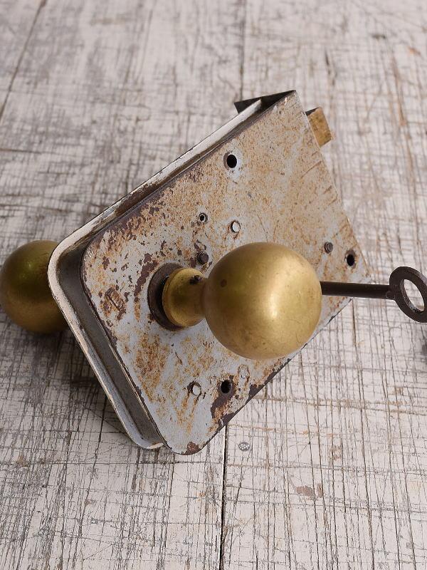 イギリス アンティーク ラッチ&ドアノブ 建具金物 9882
