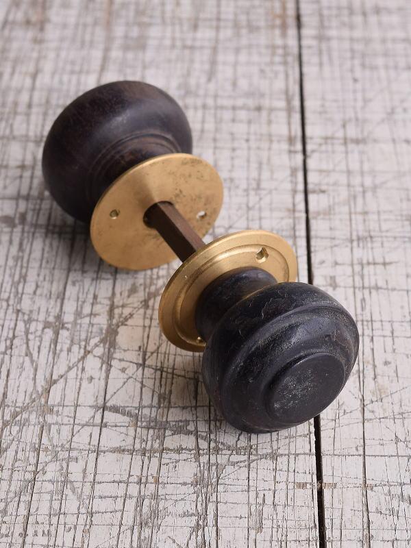 イギリス アンティーク 木製 ドアノブ 建具金物 握り玉 9930