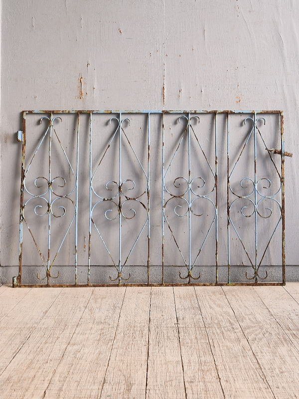 イギリス アンティーク アイアンフェンス ゲート柵 9937
