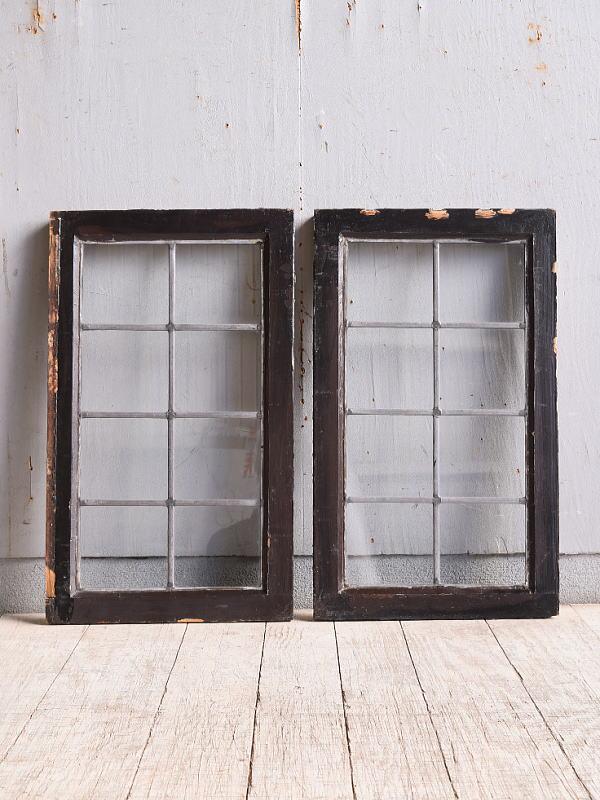 イギリス アンティーク 窓 無色透明 9964
