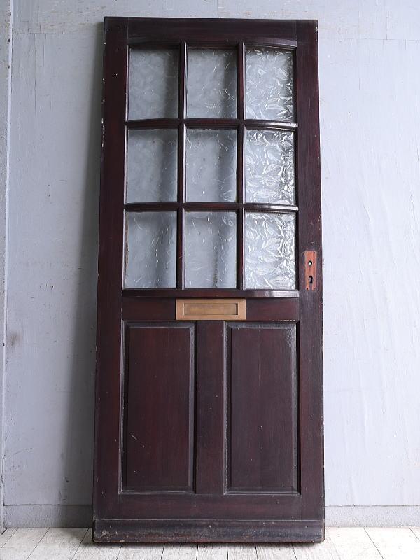 イギリス アンティーク ガラス入りドア 扉 建具 9965