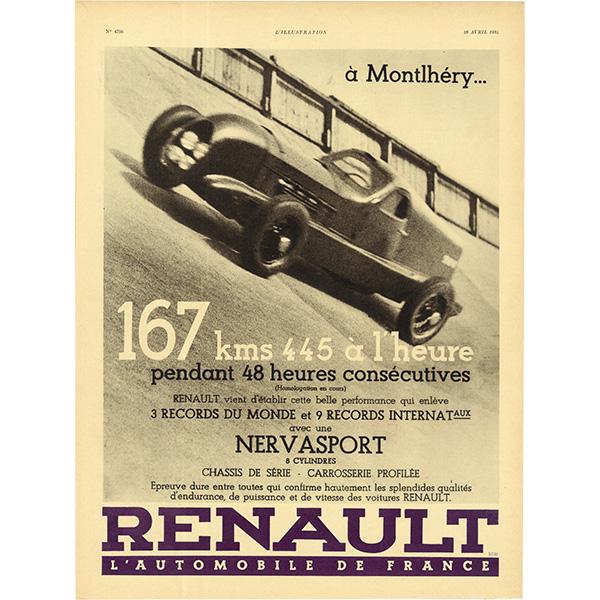 RENAULT(ルノー)スポーツクラシックカーのヴィンテージ広告 0030