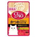 いなば CIAO チャオ パウチかつおささみ入りほたて味40g