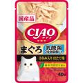 いなば CIAOパウチ 乳酸菌入り まぐろ ささみ入りほたて味 40g