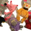 FuzzYard 犬猫用おもちゃ/ぬいぐるみ(ねこ、うし、さる、おおはし、フラミンゴ、ねずみ)