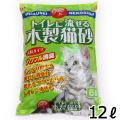 (1回のご注文4個まで)常陸化工 トイレに流せる木製猫砂 12L