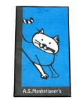 【半額セール!】 ASマンハッタナーズ ラグマット ブルー 【訳あり数量限定】