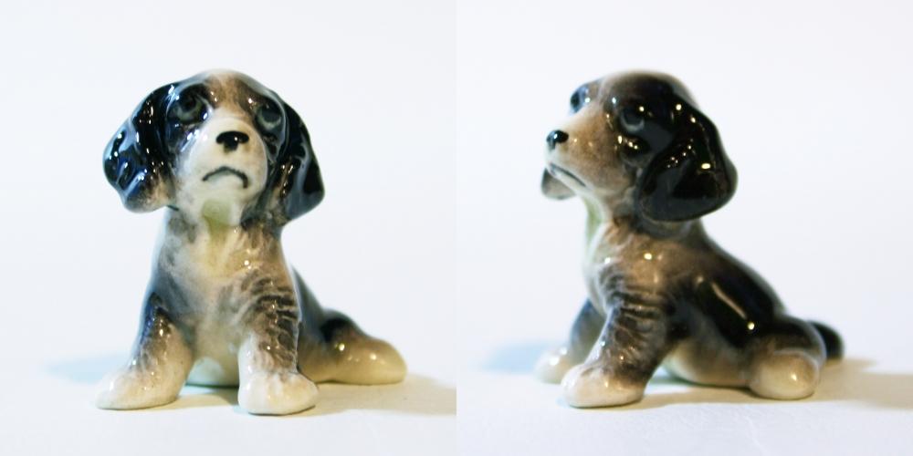 Hagen Reneaker,ヘイゲンリネカー,ミニチュアドール,コレクション,磁器,フィギュア,犬,ドッグ,スプリンガー