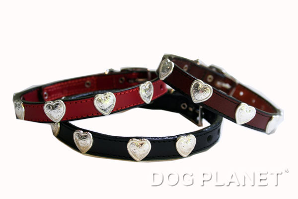 犬の首輪 小型犬 WoofWear 【ハート サイズ12 幅1.2cm】