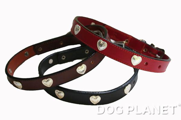 犬の首輪 WoofWear 【ハート サイズ14 幅1.9cm】