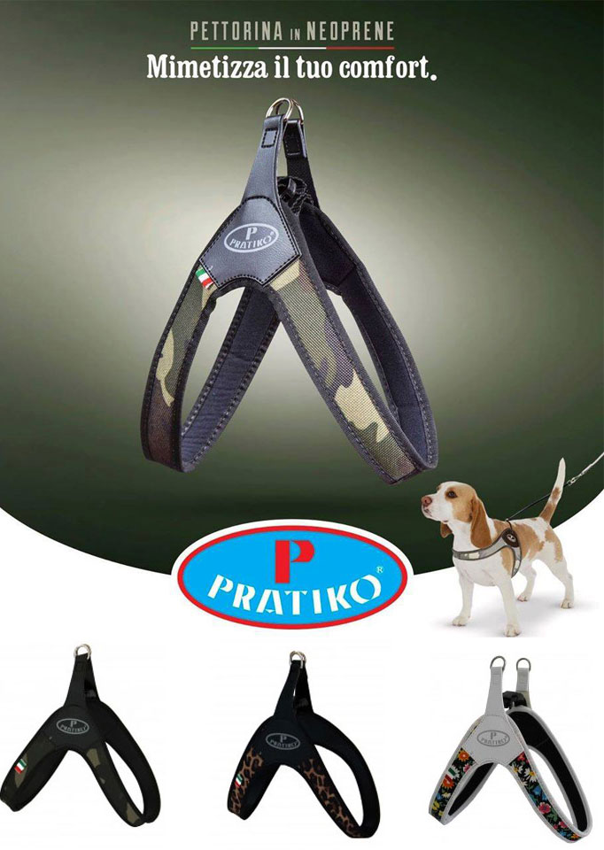 PRATIKO・プラティコ ハーネス カドゥルクリップ ファッションタイプ 超小型〜中型犬用 (チワワ、ティーカッププードル、ヨーキー)サイズ1.5