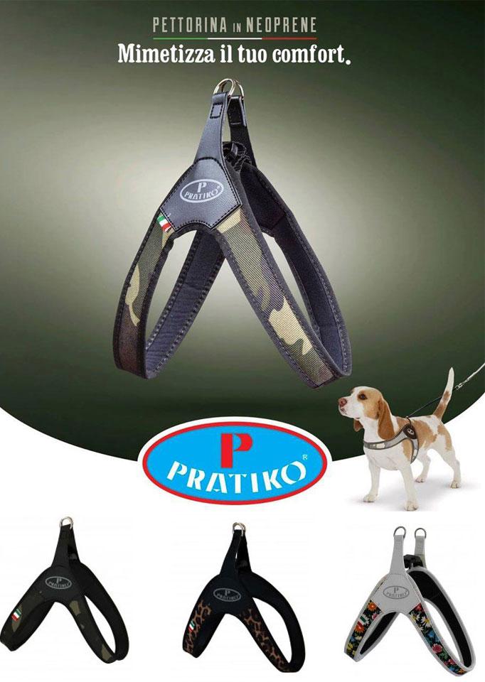 PRATIKO・プラティコ ハーネス カドゥルクリップ ファッションタイプ 中型犬用 サイズ3.5(ビーグル)