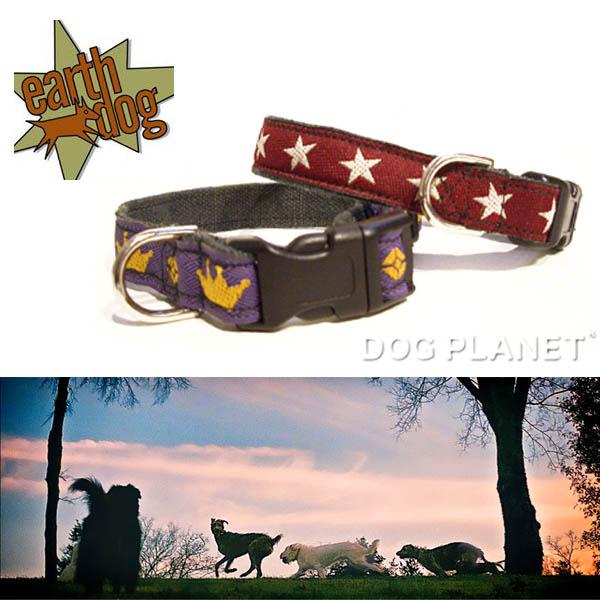 【earthdog・アースドッグ】 デコラティブヘンプ(麻)カラー 首輪XSサイズ 小型犬用