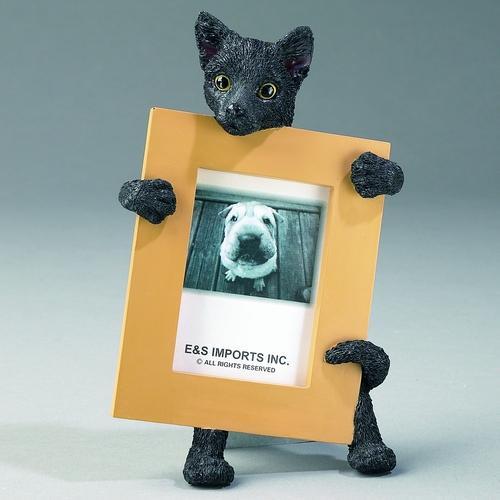 可愛い猫のフィギュアー付きフォトフレーム