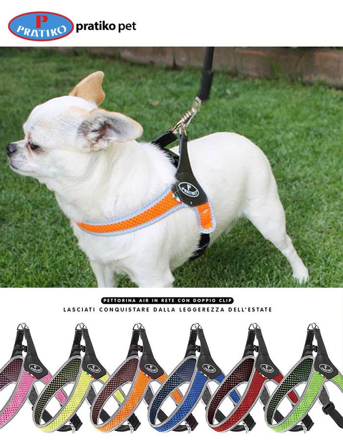 PRATIKO・プラティコ ハーネス メッシュバッククリップ 小型犬用 サイズ2