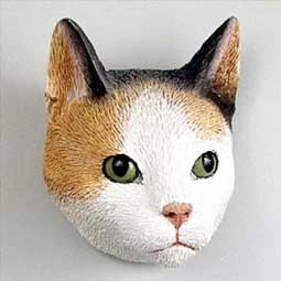 キャットヘッドマグネット 日本三毛猫