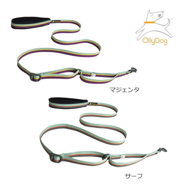 OllyDog・オリードッグフラッグスタッフ 犬 リード・クッション付き長さ調整可能なリード