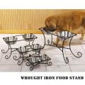 犬の食事台・テーブル*ロートアイアンフードスタンド【Sサイズ・小型犬・・猫用】