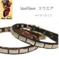 犬の首輪 WoofWear【K9 スクエアー サイズ10/12 幅1.2cm】小型犬