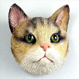 キャットヘッドマグネット トラ猫 ブラウン