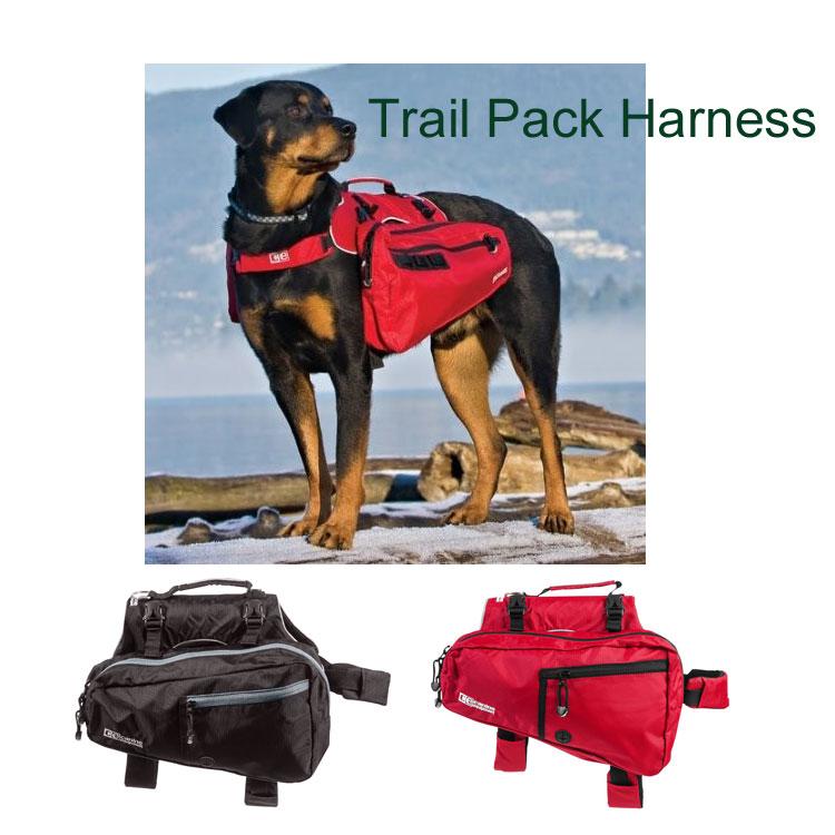 取り外し可能なバッグの付いた、トレイル用ハーネス 犬用リュック Sサイズ13.5〜26kg用