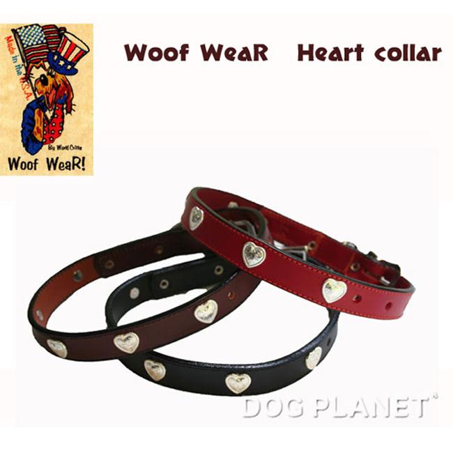 犬の首輪 WoofWear 【ハート 幅1.2・1.9cm】小型~中型犬サイズ