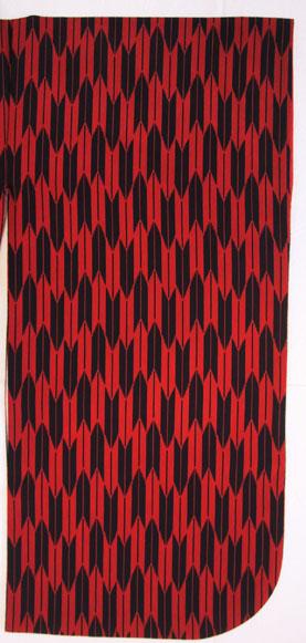 WK-Y398RED矢絣 赤に黒 袖