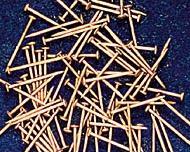 ミニ釘(真鍮、9.5mm x 直径0.5mm)(約100本入り)