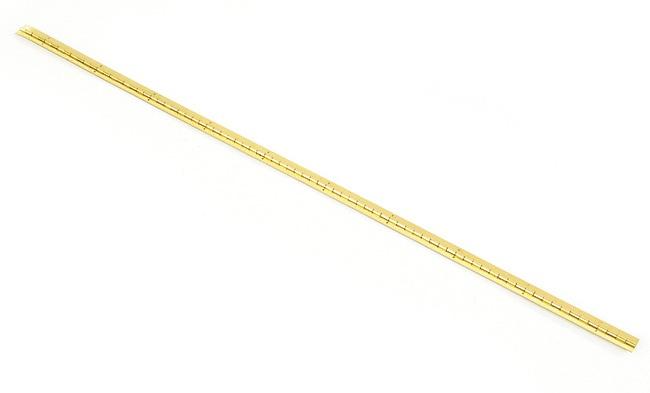 ミニチュアピアノ蝶番(真鍮、幅9.1mm x 全長381mm)