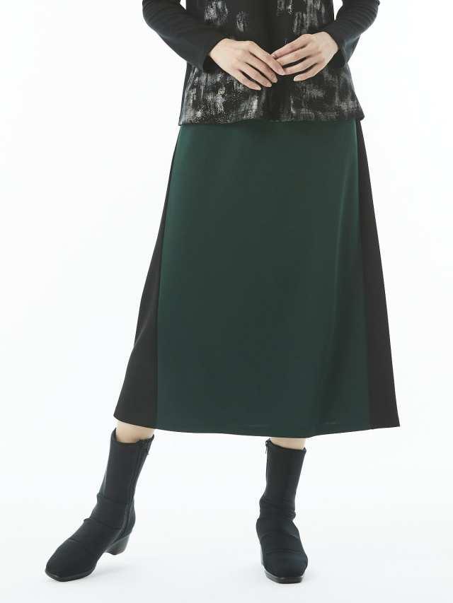 前後切り替え配色スカート