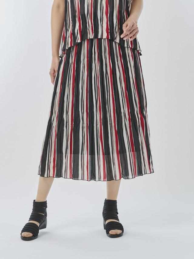 ストライププリーツスカート