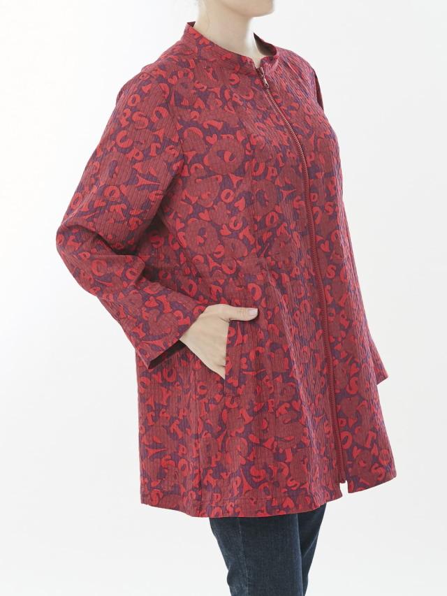 パリモチーフプリントジャケット