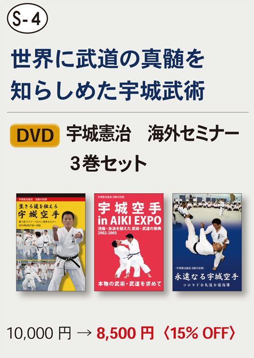 【S-4】 DVD 宇城憲治 海外セミナー3巻セット