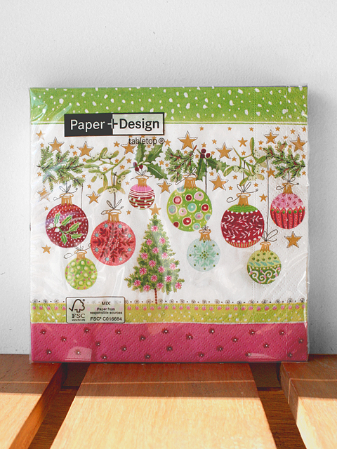 Paper+Design ペーパーナプキン クリスマスデザイン