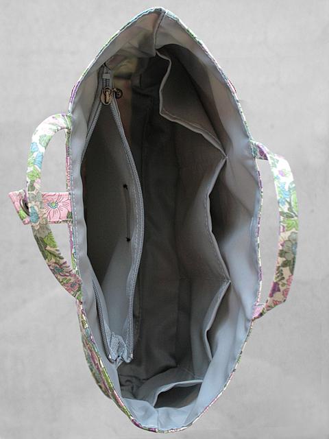 リバティプリント フローレットロンドン バッグインバッグ
