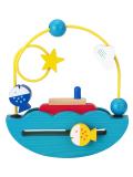 木のおもちゃ,知育玩具,ゆらゆらボート