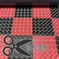 レンズ 市松模様 格子 チェック 赤 黒 ビニールマット