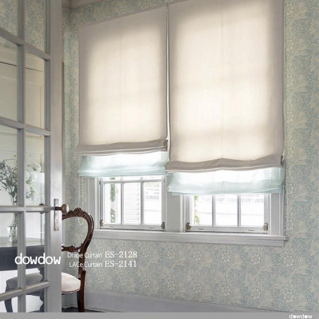 【アンティーク クラシック】無地のドレープカーテン&シェード【ES-2128】ヘリテージ・アイボリー
