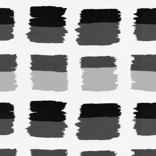 【ミッドセンチュリー】ペイント・ブロック柄のドレープカーテン&シェード【HS-4006】ブラック