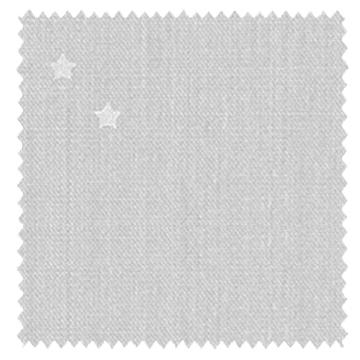 【北欧モダン】星のプリントのドレープカーテン【LX-8062】ライトグレー&シルバー