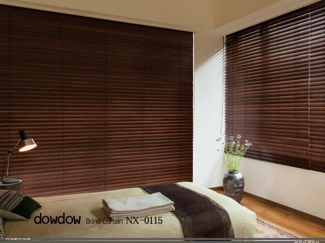 木製ブラインド【NX-0115】セピアブラウン