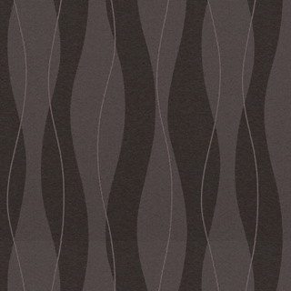 【ミッドセンチュリー】波形ストライプの幾何学柄の遮光カーテン&シェード【RX-4298】ダークブラウン