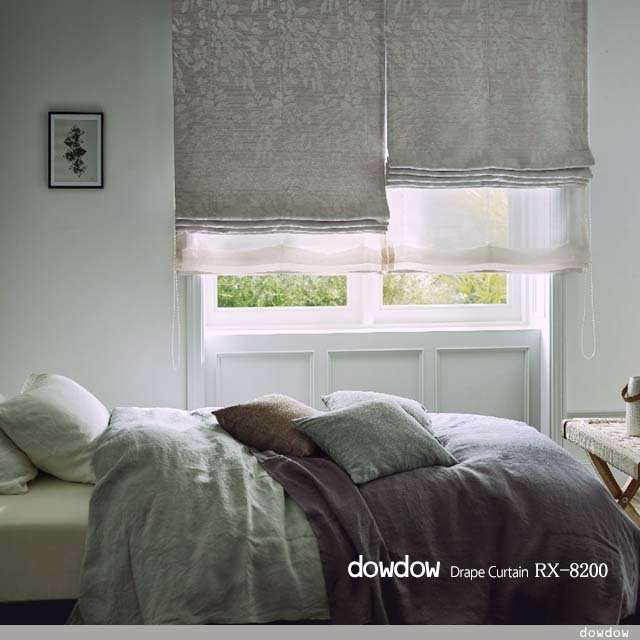 【モダン ボタニカル】サクラの葉のシワ加工の遮光カーテン【RX-8200】ライトベージュ