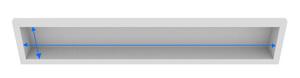 カーテンボックスのカーテンのサイズの測り方