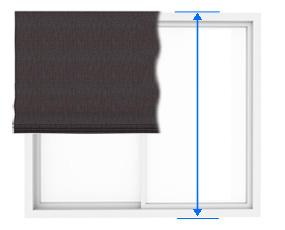 シェードの正面付けの丈の測り方